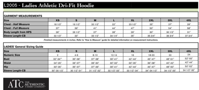 Ladies' Athletic Dri-Fit Hoodie